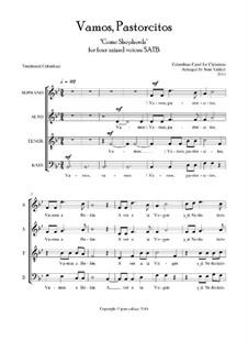 Vamos, Pastorcitos: SATB choir by folklore