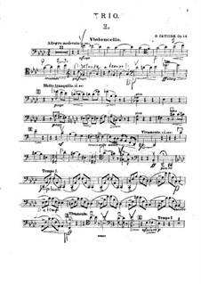Фортепианное трио фа минор, Op.14: Партия виолончели by Георгий Катуар