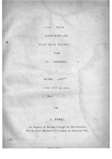 Шесть дуэтов для двух флейт, Op.53: Партия I флейты by Франсуа Девьен