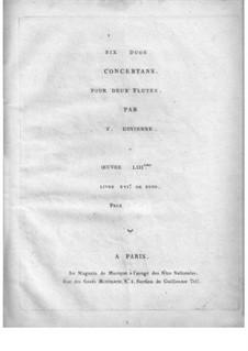 Шесть дуэтов для двух флейт, Op.53: Партия II флейты by Франсуа Девьен