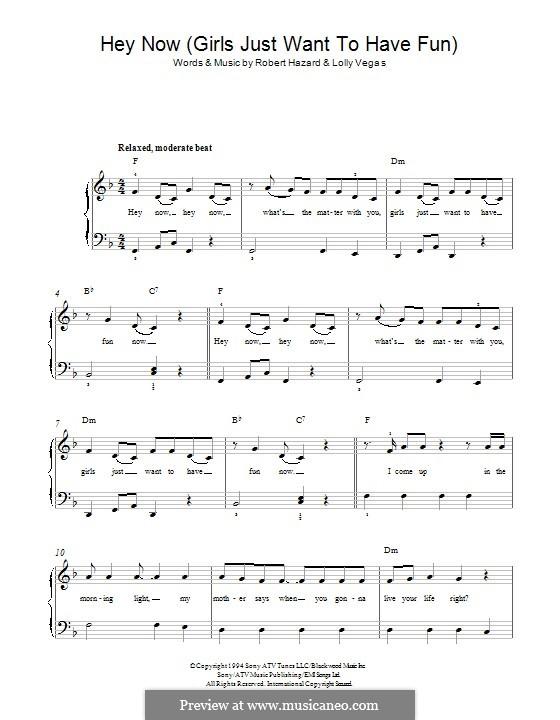 Girls Just Want to Have Fun: Для фортепиано by Robert Hazard