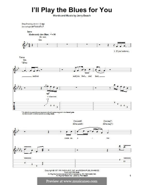 I'll Play the Blues for You: Для гитары с табулатурой by Jerry Beach