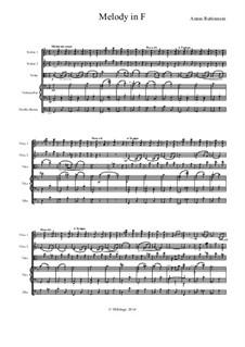 Две мелодии, Op.3: Melody No.1, for string orchestra by Антон Рубинштейн