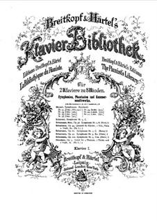 Симфония No.4 ре минор, Op.120: Версия для 2 фортепиано в 8 рук – партия I фортепиано by Роберт Шуман