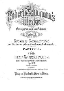 Проклятие певца, Op.139: Партитура by Роберт Шуман