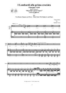 Ломбардцы в первом крестовом походе: Di perigli è piena l'opra!', for two bass voices-male Chorus TB and piano, CSGV9 by Джузеппе Верди