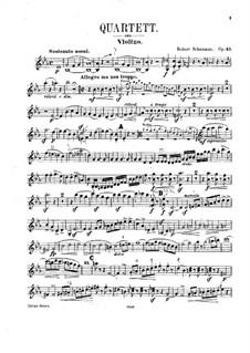 Фортепианный квартет ми-бемоль мажор, Op.47: Партии струнных by Роберт Шуман