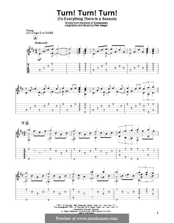 Turn! Turn! Turn! (To Everything There Is a Season): Для гитары с табулатурой by Peter Seeger