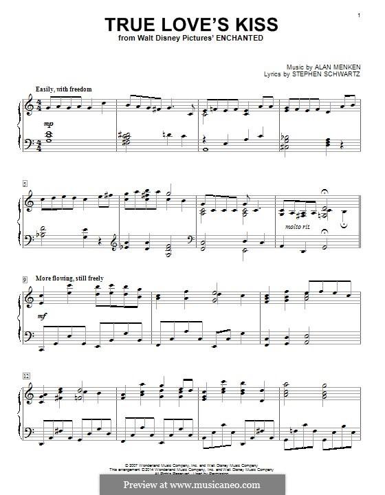 True Love's Kiss: Для фортепиано by Alan Menken