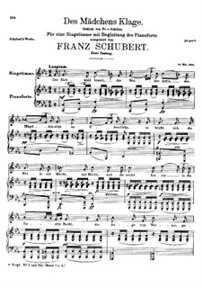 Жалоба девушки, D.191 Op.58 No.3: Первая версия by Франц Шуберт