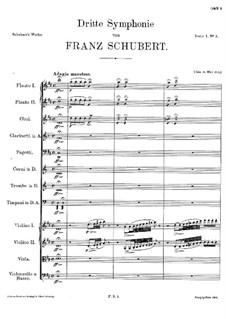 Симфония No.3 ре мажор, D.200: Часть I by Франц Шуберт