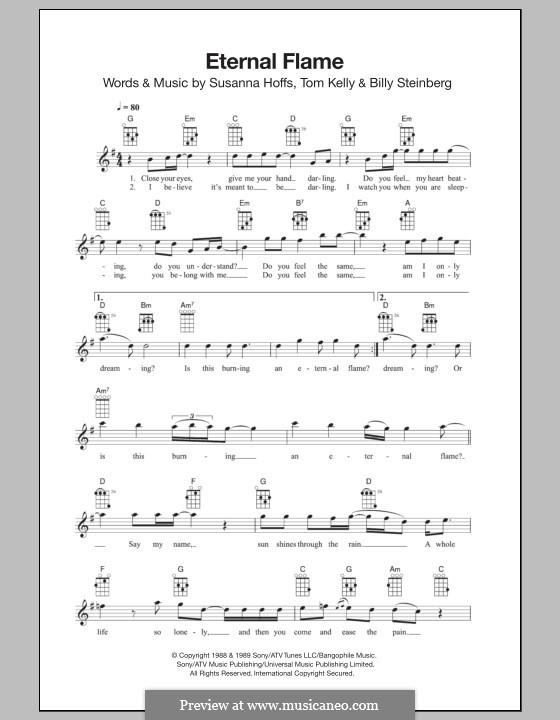 Eternal Flame: Для укулеле by Billy Steinberg, Susanna Hoffs, Tom Kelly