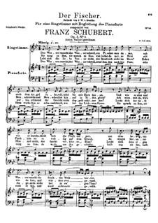 Рыбак, D.225 Op.5 No.3: Для высокого голоса и фортепиано by Франц Шуберт