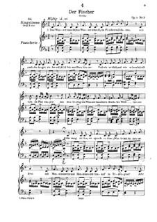Рыбак, D.225 Op.5 No.3: Для низкого голоса и фортепиано by Франц Шуберт