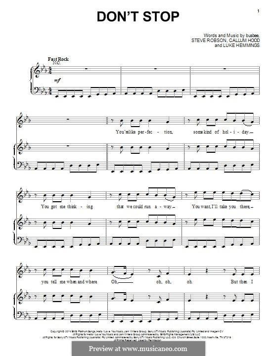 Don't Stop (5 Seconds of Summer): Для голоса и фортепиано (или гитары) by Busbee, Steve Robson, Calum Hood, Luke Hemmings