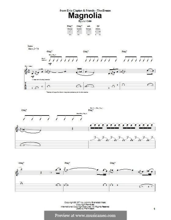 Magnolia: Для гитары с табулатурой by J.J. Cale