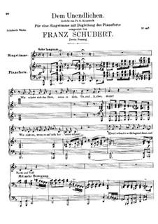 Бесконечному, D.291: Вторая версия by Франц Шуберт