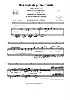 Ломбардцы в первом крестовом походе: Ma quando un suon terribile, for bass voice and piano, CSGV14 by Джузеппе Верди