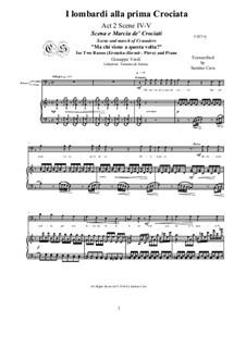 Ломбардцы в первом крестовом походе: Ma chi viene a questa volta?, for two basses and piano, CSGV15 by Джузеппе Верди