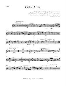 Celtic Arms: Oboe 1 part by folklore, Патрик Сэрсфильд Джильмор, David Braham