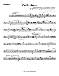 Celtic Arms: Bassoon 1 part by folklore, Патрик Сэрсфильд Джильмор, David Braham