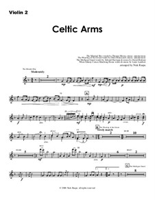 Celtic Arms: Violin 2 part by folklore, Патрик Сэрсфильд Джильмор, David Braham