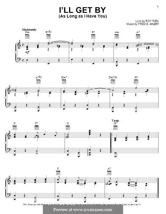 I'll Get By: Для голоса и фортепиано или гитары (Billie Holiday) by Fred E. Ahlert
