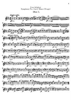 Симфония No.4 до минор 'Трагическая', D.417: Партии гобоев by Франц Шуберт