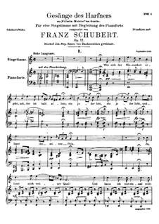 Harfenspieler I (The Harper's Song I), D.478 Op.12 No.1: No.1 Wer sich der Einsamkeit ergibt by Франц Шуберт