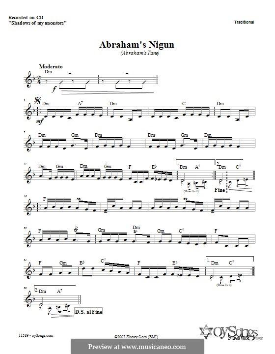Abraham's Nigun: Текст, аккорды by folklore