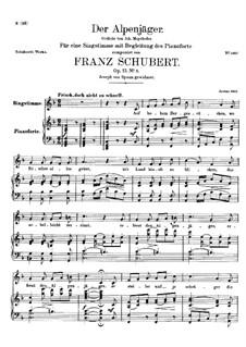 Альпийский охотник, D.524 Op.13 No.3: Первая версия by Франц Шуберт