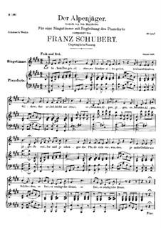 Альпийский охотник, D.524 Op.13 No.3: Вторая версия by Франц Шуберт