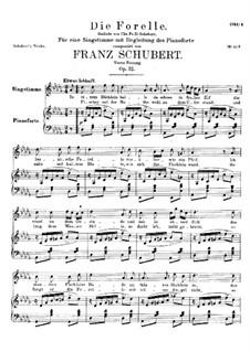 Форель, D.550 Op.32: Четвёртая версия by Франц Шуберт