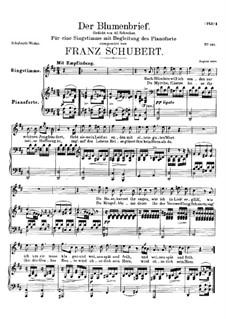 Der Blumenbrief (The Message of Flowers), D.622: Для высокого голоса и фортепиано by Франц Шуберт