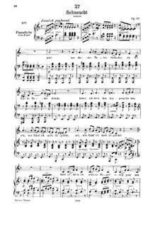 Sehnsucht (Longing), D.636 Op.39: Клавир с вокальной партией by Франц Шуберт