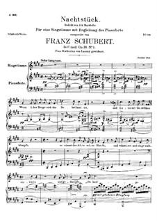 Ноктюрн, D.672 Op.36 No.2: Для высокого голоса и фортепиано by Франц Шуберт
