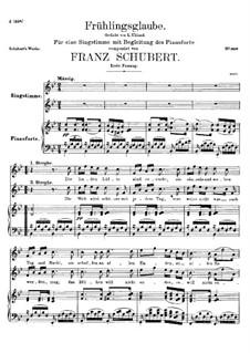 Frühlingsglaube (Faith in Spring), D.686 Op.20 No.2: Первая версия by Франц Шуберт