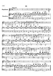 Четыре канцоны для голоса и фортепиано, D.688: No.3 Da quel sembiante appresi by Франц Шуберт