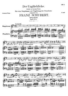 Der Unglückliche (The Unhappy One), D.713 Op.87 No.1: Вторая версия by Франц Шуберт