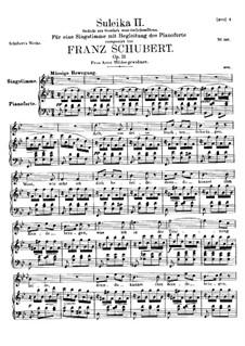 Зулейка II, D.717 Op.31: Для высокого голоса и фортепиано by Франц Шуберт