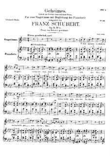 Секрет, D.719 Op.14 No.2: Для высокого голоса и фортепиано by Франц Шуберт