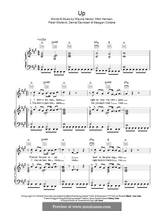 Up (feat. Demi Lovato): Для голоса и фортепиано (или гитары) by Daniel Davidsen, Mich Hansen, Peter Wallevik, Wayne Anthony Hector, Maegan Cottone