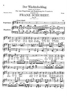 Der Wachtelschlag (Song of the Quail), D.742 Op.68: Для высокого голоса и фортепиано by Франц Шуберт