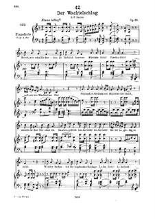Der Wachtelschlag (Song of the Quail), D.742 Op.68: Для низкого голоса и фортепиано by Франц Шуберт