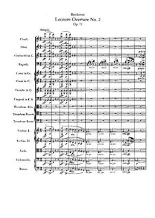Леонора. Увертюра No.2 до мажор, Op.72a: Партитура by Людвиг ван Бетховен