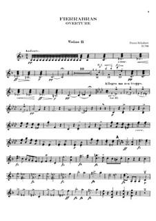 Фьеррабрас, D.796: Увертюра – партия второй скрипки by Франц Шуберт