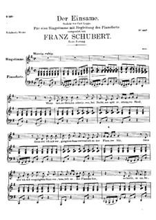 Der Einsame (The Solitary), D.800 Op.41: Первая версия by Франц Шуберт