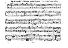 Струнный квартет No.14 ре минор 'Смерть и девушка', D.810: Часть IV. Переложение для фортепиано в четыре руки by Франц Шуберт