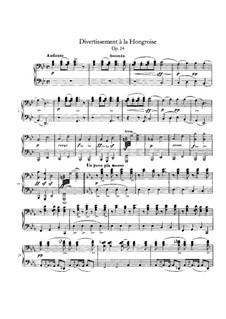Divertissement à la Hongroise, D.818 Op.54: Первая и вторая партии by Франц Шуберт