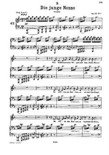 Молодая монахиня, D.828 Op.43 No.1: Для низкого голоса и фортепиано by Франц Шуберт